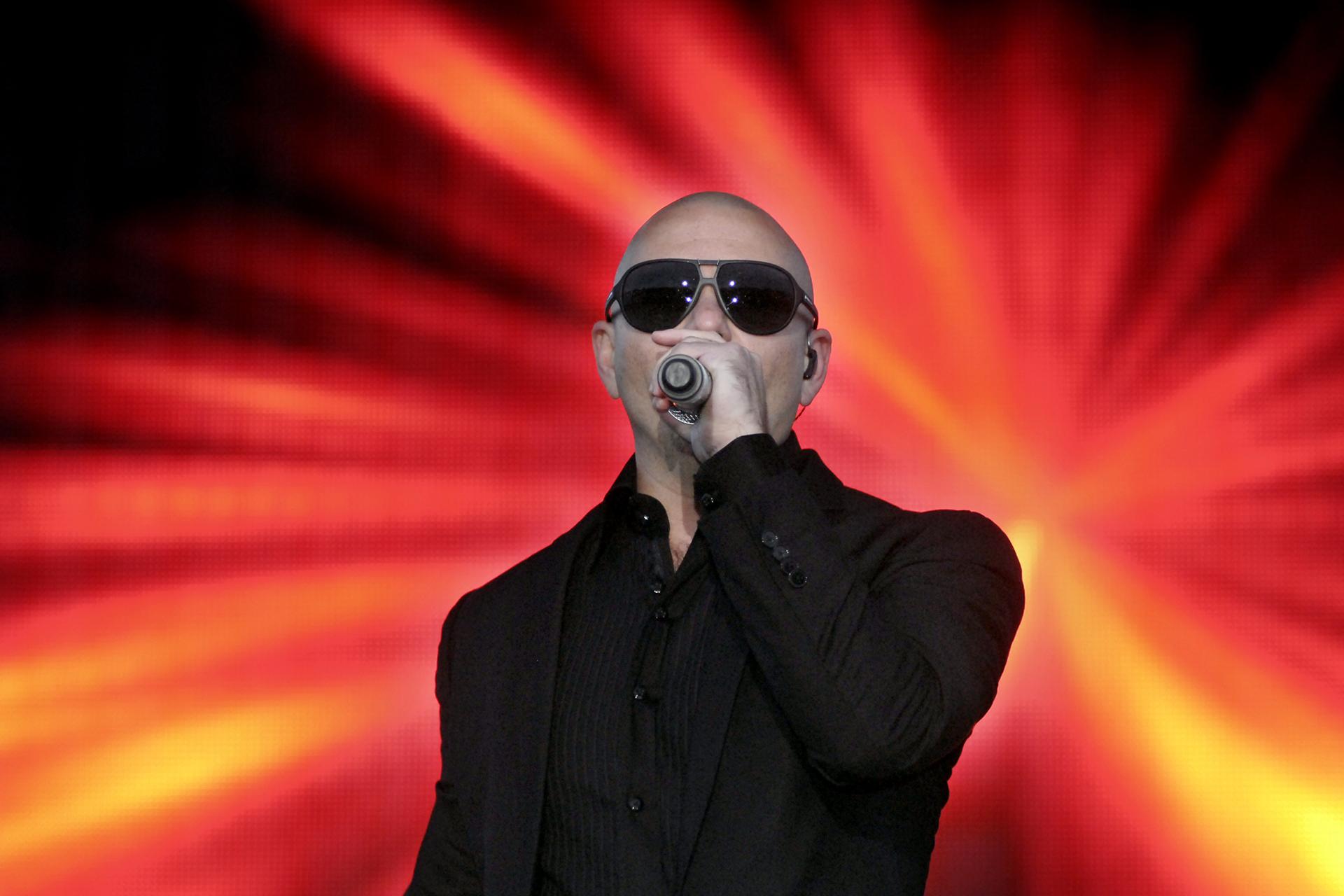 Pitbull performs for service members May 4 at Memorial Stadium on JBLM Lewis Main.