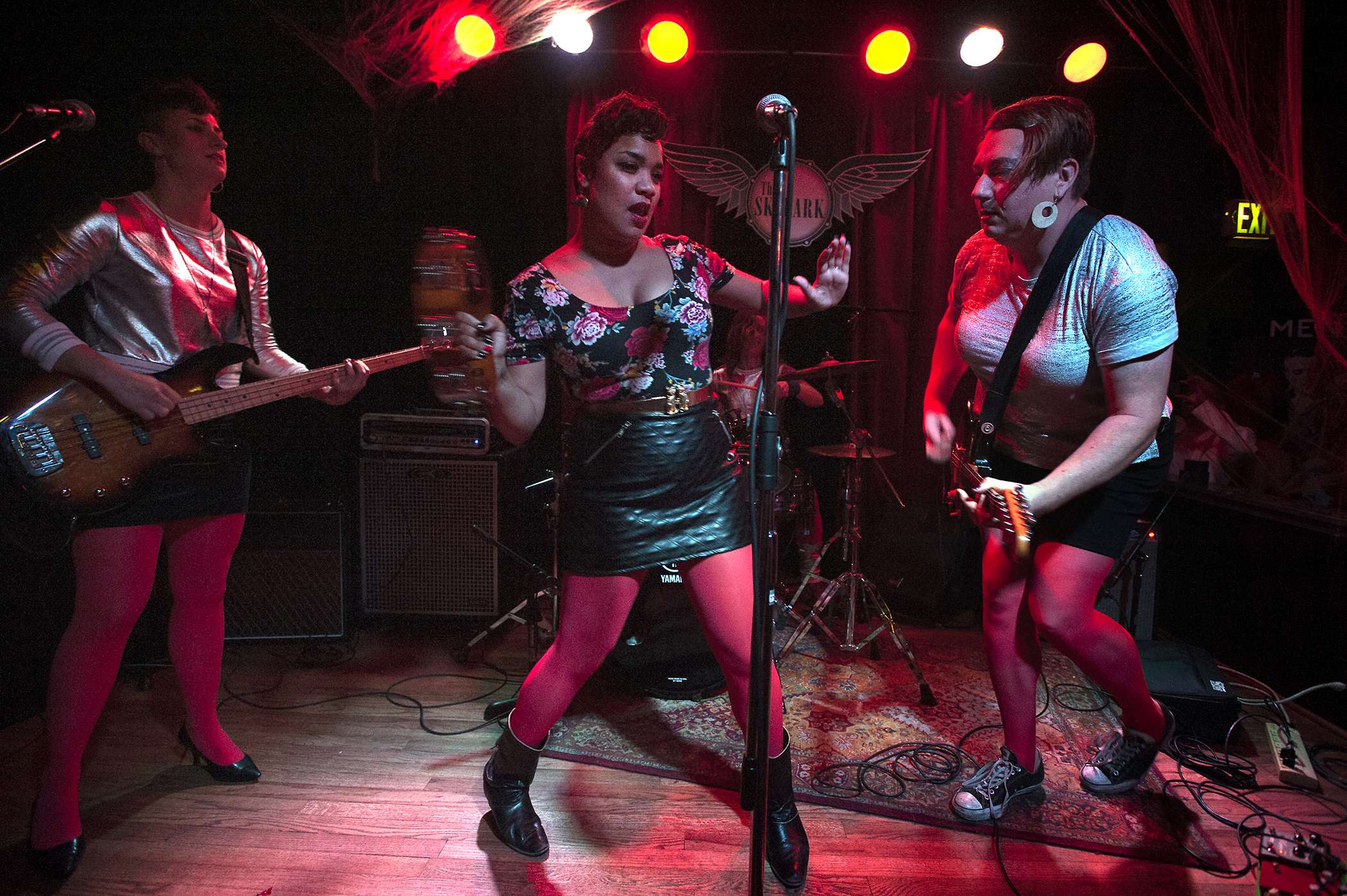 "Beauty and the Beats performs as The Go-Gos during the 2015 ""Come as You Aren't"" Battle of the Bands Halloween competition Oct. 31 at The Skylark in West Seattle."