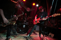 """Members of Gibraltar perform as Morphine during the 2015 """"Come as You Aren't"""" Battle of the Bands Halloween competition Oct. 31 at The Skylark in West Seattle."""