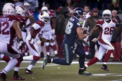 Seahawks tight end Jimmy Graham (88) looks for room to run after a second-half reception Nov. 15 during Seattle's 39-32 loss to Arizona at CenturyLink Field in Seattle.
