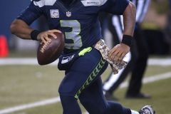 Seahawks quarterback Russell Wilson (3) looks for an open receiver Nov. 15 during Seattle's 39-32 loss at CenturyLink Field in Seattle.